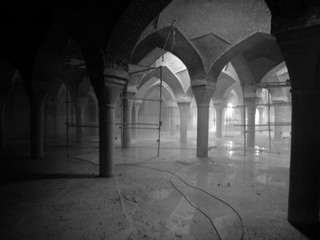 Renovating a mosque in Iran