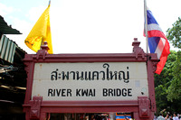Bridge over River Kwai sign