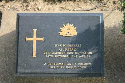 Tombstone of G.Kidd Kanchanaburi, Thailand