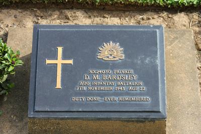 Tombstone of D.M Bardsley Kanchanaburi, Thailand