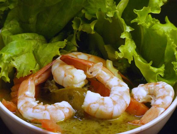 A bowl of Thai Green Curry