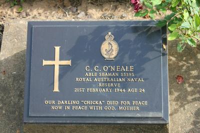 Tombstone of C.C.O'Neale Kanchanaburi, Thailand