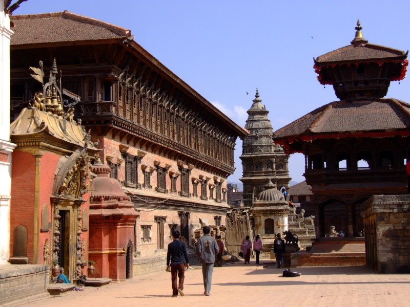 Nepal - a very ancient and beautiful place, Patans streets (click to enlarge)