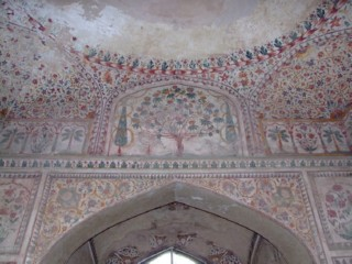 Detailed archway from the underground palace in Lahore