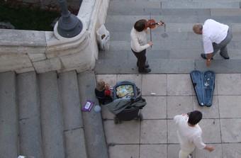 Musician at Buda Castle