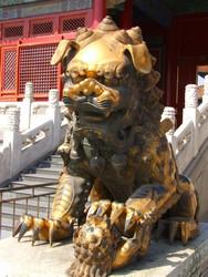 Lion Dog in Forbidden city