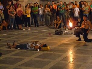 Fire eater in Granada