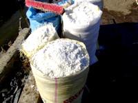 Bags of sea salt