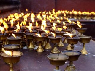 Yak butter candles, Nepal