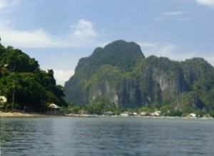 The cliff to climb in El Nido