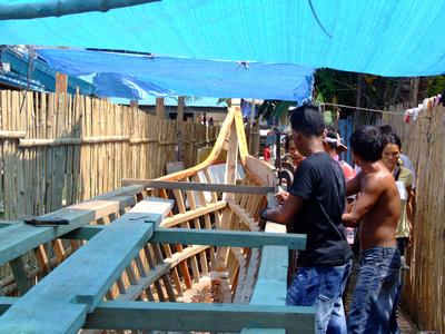 Locals building a boat in Davao