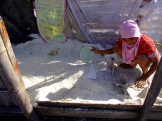 Sea salt maker in Mindanao