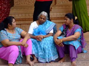Local women talking in Malaysia