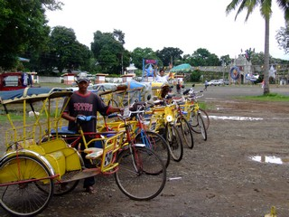 A Row of Bicycles in the Philippines
