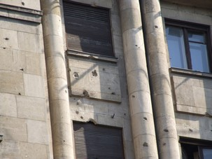 Bullet Holes in Bucharest