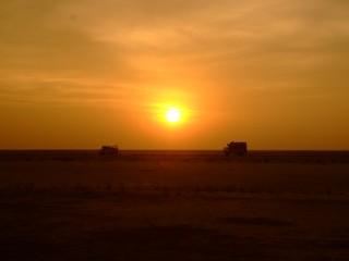 Pakistan Border Sunset